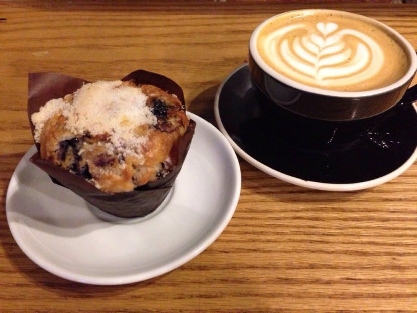Blueberry Muffin In A Coffee Cup