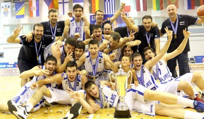 EUROPEAN  BASKETBALL CHAMPIONS THE NATIONAL GREEK TEAM