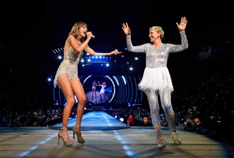 TAYLOR SWIFT AND ELLEN DEGENERES: TOGETHER ON STAGE