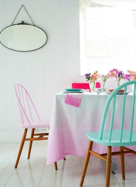 IDEAS FOR YOUR HOME: HALF PAINTED FURNITURE!