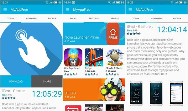 MyAppFree GIVES YOU FREE APPLICATIONS FOR ANDROID DEVICES