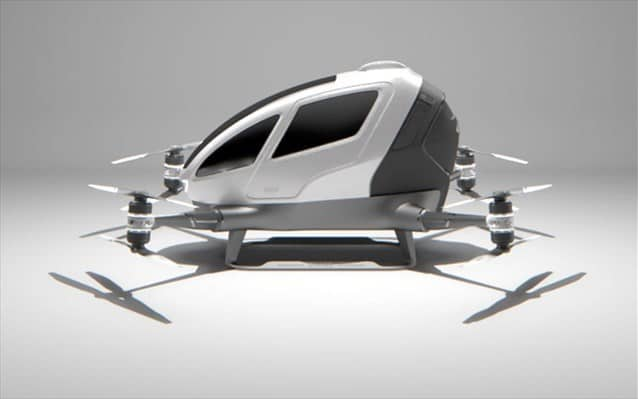 """ROBOTIC FLYING """"TAXI"""": REVOLUTIONARY DRONE FROM THE CHINESE EHANG"""