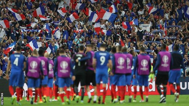 FRANCE WON THE FIRST GAME