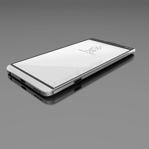 LG V20: LEAKED THE FIRST RENDERS AND IT REVEALS THE DOUBLE BACK CAMERA