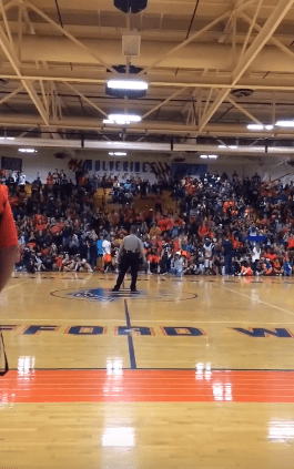 COP DANCES TO BEYONCE SONG DURING A BASKETBALL GAME