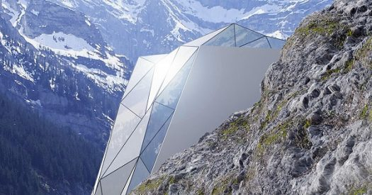 "HOTEL ""GLIDES"" ON THE SIDE OF ALPES"