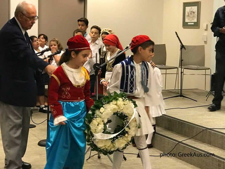 THE GREEKS OF BURWOOD IN SYDNEY, CELEBRATED THE GREEK NATIONAL DAY